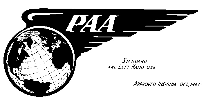 Although Pan American began calling itself Pan American World Airways since the war, it officially changed the name in January 1950. An updated version of the 1928 logo was adopted in 1944 as seen here in this original company illustration