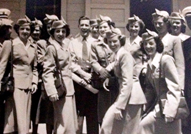 Stewardess Class 13 with Ted Crawford, Instructor