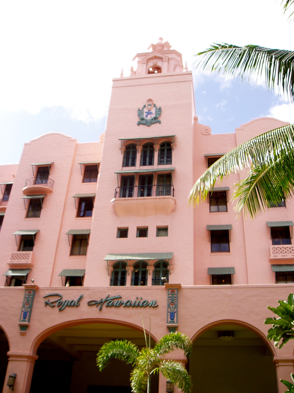 The Pink Palace of the Pacific, the Royal Hawaiian Hotel
