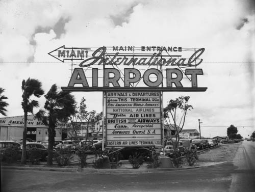 1950 Miami 36th Street Terminal Sign