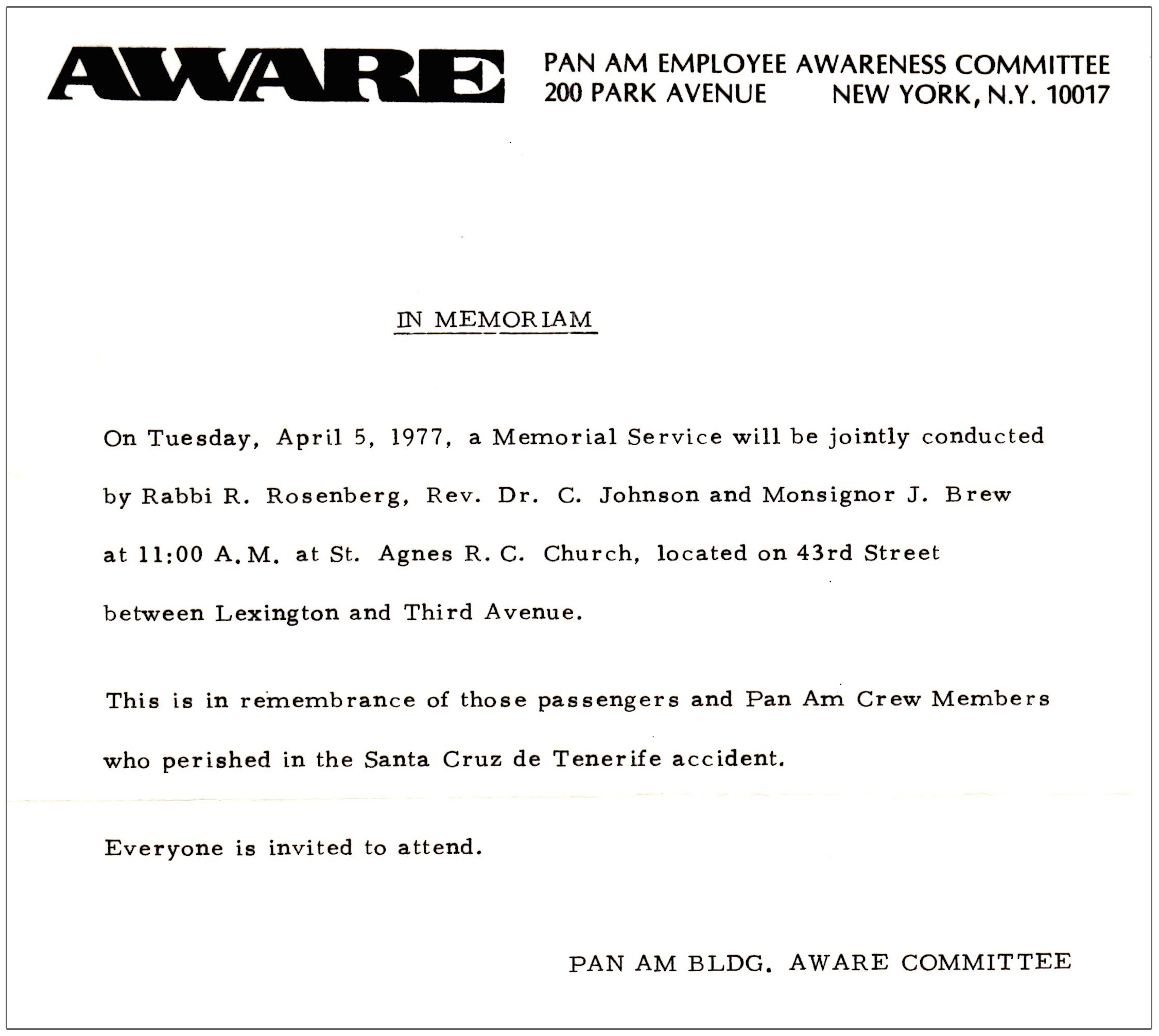 Awareness Newsletter Spring 1977
