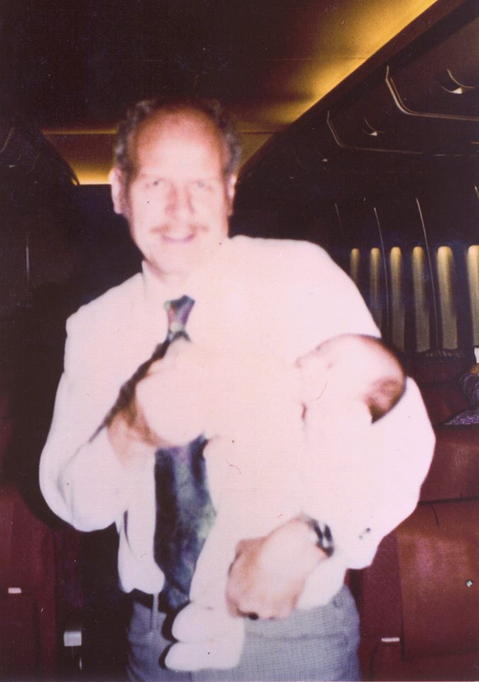 Dr. Dunlop with baby