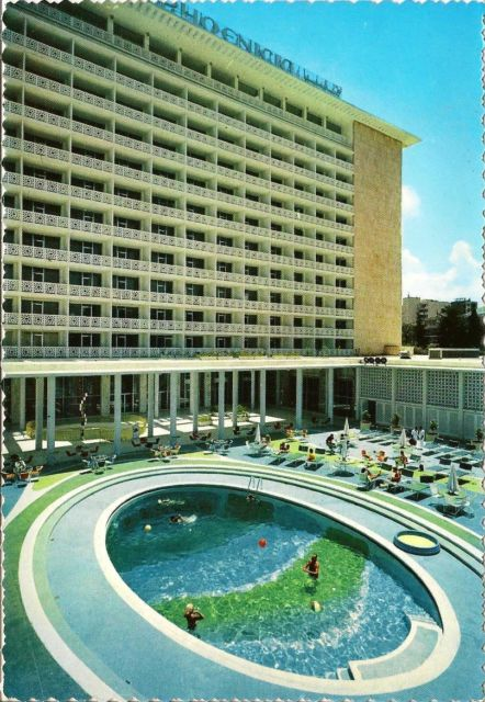 The pool at the Phoenicia InterContinental Hotel. Picture reprinted with permission of the Neal Prince Trust.