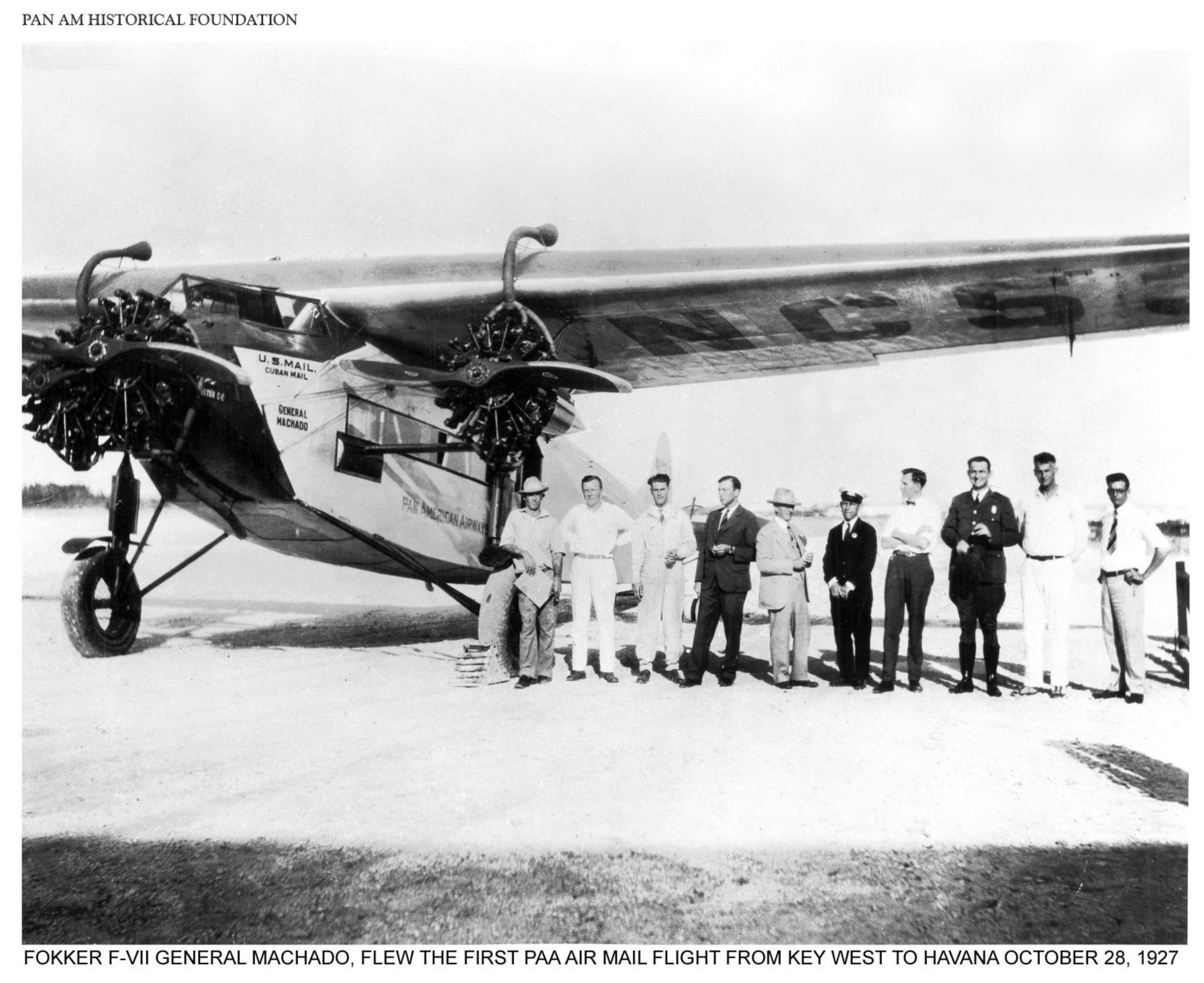 Pan Am's First Flight Vokker F-VII photograph from Pan Am Historical Foundation no copyright infringement intended