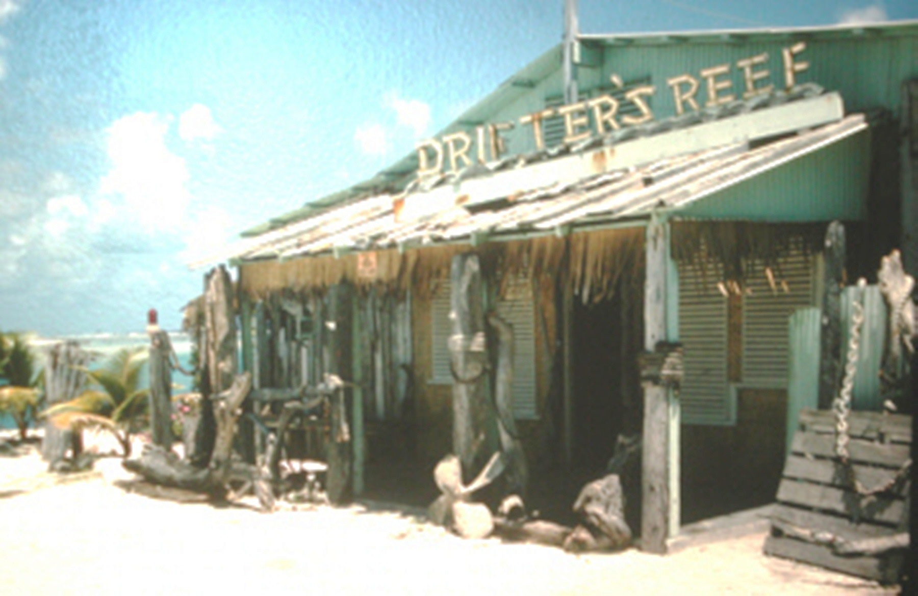 Original Drifter's Reef Bar, a popular place with everyone on Wake Island, Madeline has memories of the officers taking the crew there.